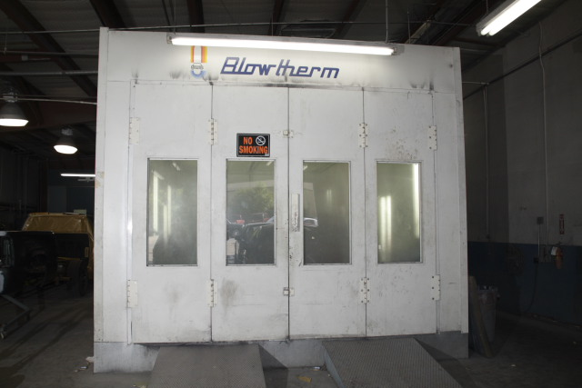 Blowtherm paint booth